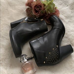 Guess studded ankle booties.